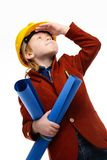 Little boy engineer Royalty Free Stock Image