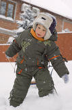 Little boy enjoy winter outdoor Stock Photo