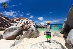 Little boy enjoying beach view Royalty Free Stock Photography