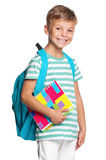 Little boy with exercise books Stock Image
