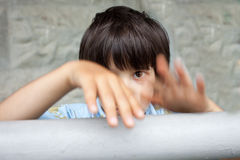 Little boy in expression Stock Images
