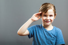 Little Boy Expression - Salute Stock Image