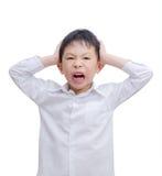Little Boy fâché image libre de droits