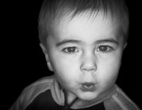 Little boy face Royalty Free Stock Images