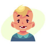 Little boy face, smiling facial expression Stock Photography