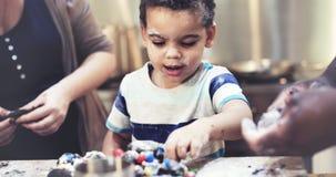 Little Boy Family Baking Homemade Cookie Concept.  stock photos