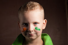 Little boy is a fan of Ireland, Royalty Free Stock Photos