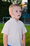 Little boy with a fancy haircut looking away Royalty Free Stock Images