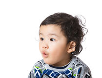 Little boy feel surprise Royalty Free Stock Photos