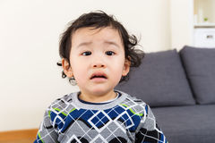 Little boy feel upset. At home Royalty Free Stock Image