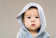 Little boy feeling confused Stock Image