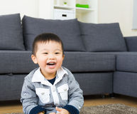 Little boy feeling happy Stock Photography