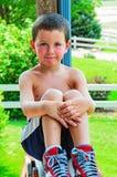Little Boy feliz no verão Imagem de Stock Royalty Free