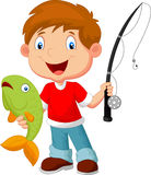 Little Boy Fishing Royalty Free Stock Photo