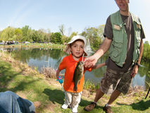 Little Boy Fishing. Mahwah, NJ - Annual Spring Kids Fishing Tournament Royalty Free Stock Photography