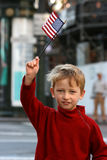 Little boy with flag Stock Image