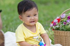 Little boy with flower Royalty Free Stock Photo