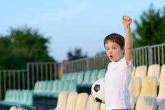 Little boy - football team fan - Royalty Free Stock Photo