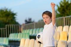 Little boy - football team fan Stock Image