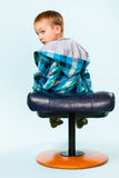 Little boy and footstool Royalty Free Stock Photography