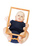 Little boy in frame Stock Photos