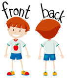 Little boy front and back Royalty Free Stock Image