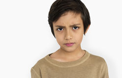 Little Boy Frowning Sad Concept. Little Boy Frowning Sad Portrait Concept Stock Photos