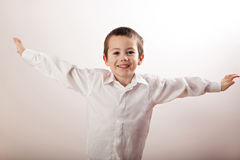 Little boy full of happiness Royalty Free Stock Photography
