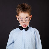 Little boy with funny face Royalty Free Stock Images