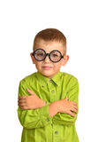 Little boy in funny glasses Stock Image