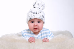 Little boy with funny hat Royalty Free Stock Photography