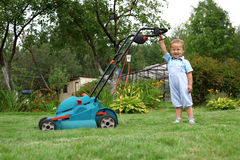 Little Boy Gardener Royalty Free Stock Image
