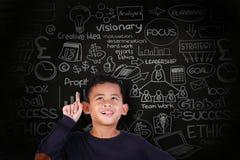 Little Boy Get a Business Idea Royalty Free Stock Photo