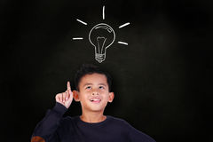 Little Boy Get an Idea Royalty Free Stock Images