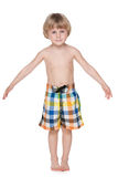Little boy getting ready for swimming Stock Photo