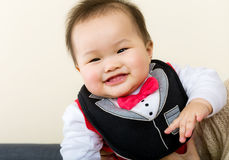 Little boy giggle. Little asian baby boy giggle Stock Photos