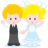 Little boy and girl Stock Images