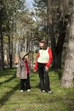 Little boy and a girl looking at each other Royalty Free Stock Photo