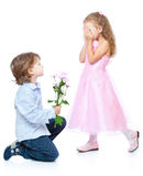 Little boy and girl in love Royalty Free Stock Images