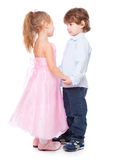 Little boy and girl in love Stock Photos