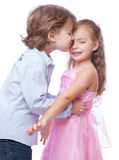 Little boy and girl in love Royalty Free Stock Photos