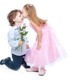 Little boy and girl in love Stock Image