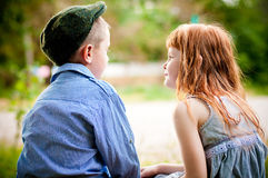 Little boy and girl Royalty Free Stock Photo