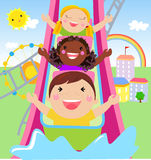 Little boy and girl playing time. Illustration of little boy and girl playing time Stock Photography