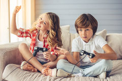 Little boy and girl Royalty Free Stock Photography