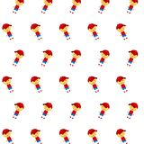 Little boy & girl - sticker pattern 33. Pattern of a sticker little boy & girl that can be used as a background, texture, prints or something else stock illustration