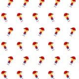 Little boy & girl - sticker pattern 36 royalty free illustration