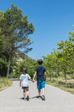 Little boy and girl walking Royalty Free Stock Images