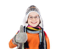 Little boy giving you thumbs up Royalty Free Stock Image