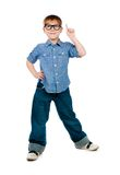 Little boy with glasses Stock Photos